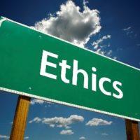 ethics roadsign